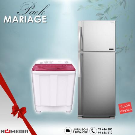 Pack Mariage de 2 Pièces de la marque Tornado, Réfrigérateur + Machine à laver