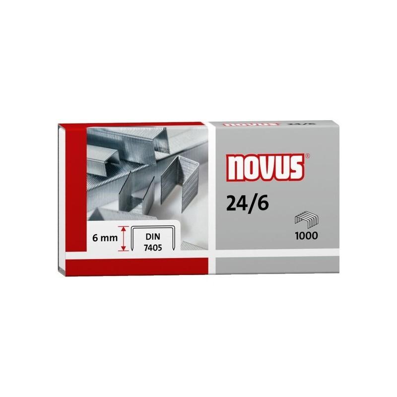 Novus 24/6 Din Super, Agrafe standard de bureau de hauteur 6mm en Acier