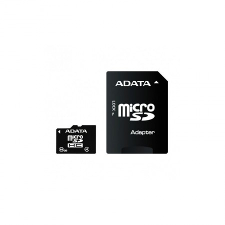Carte Mémoire ADATA MICRO SDHC 8GB CLASS 4 avec Adaptateur