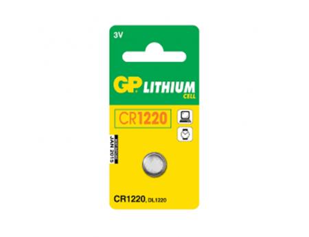 PILE BOUTON LITHIUM GP CR 1220 3V