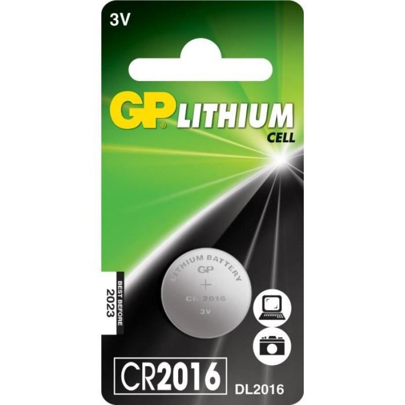 Piles bouton Lithium GP CR2016