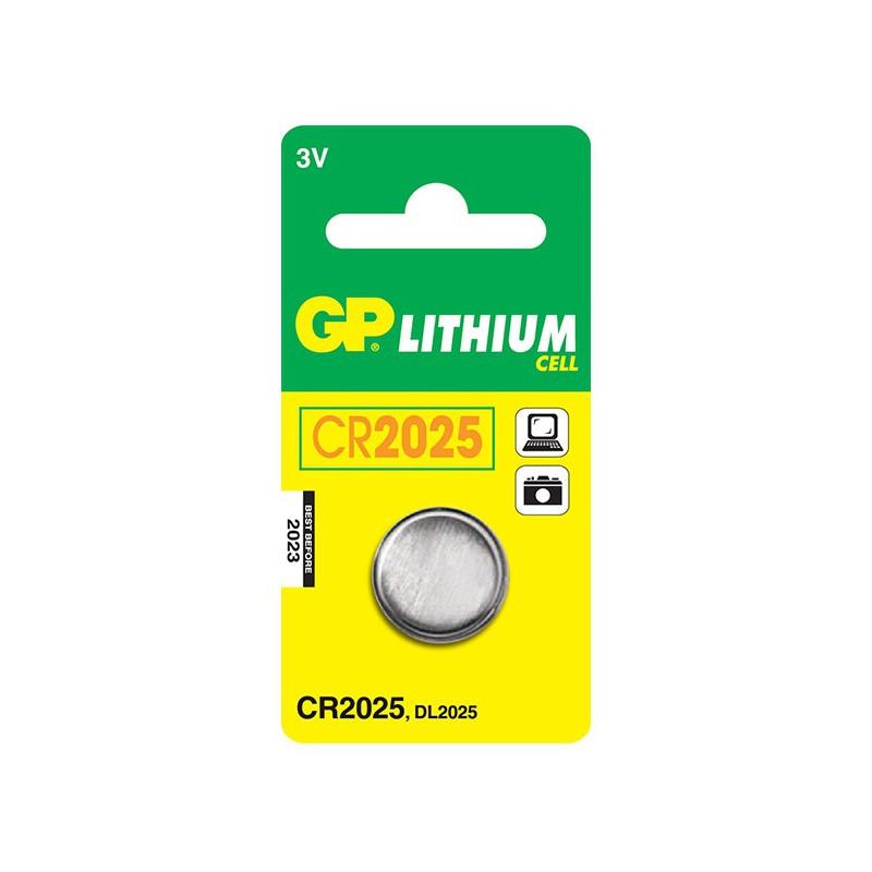 Pile bouton GP CR2025 Lithium 3V