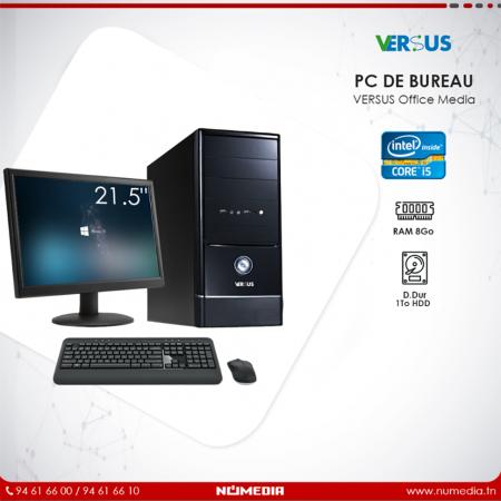 Versus Office Media, Pc de Bureau Intel Core i5 Ram 8 Go, HDD 1To Complet