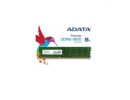 Adata AD3U1600W8G11-R, Barrette Mémoire Bureau 8Go DDR3 1600 Mhz DIMM