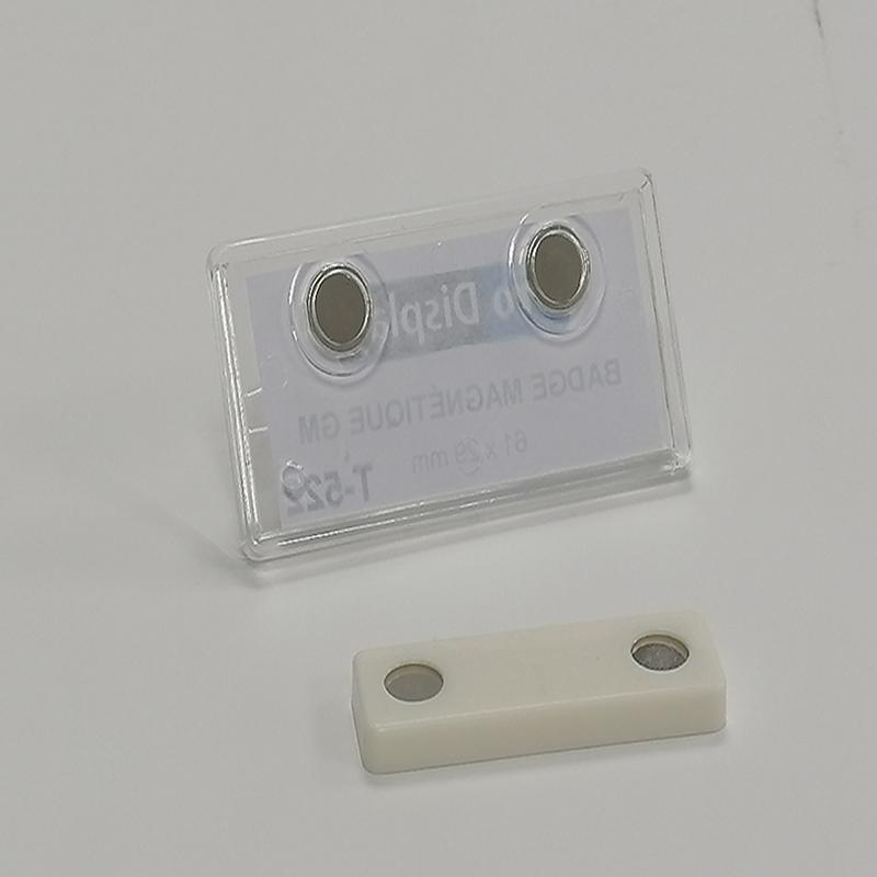 Pro Display T-522, Badge magnétique rectangulaire 61 x 29 mm transparent