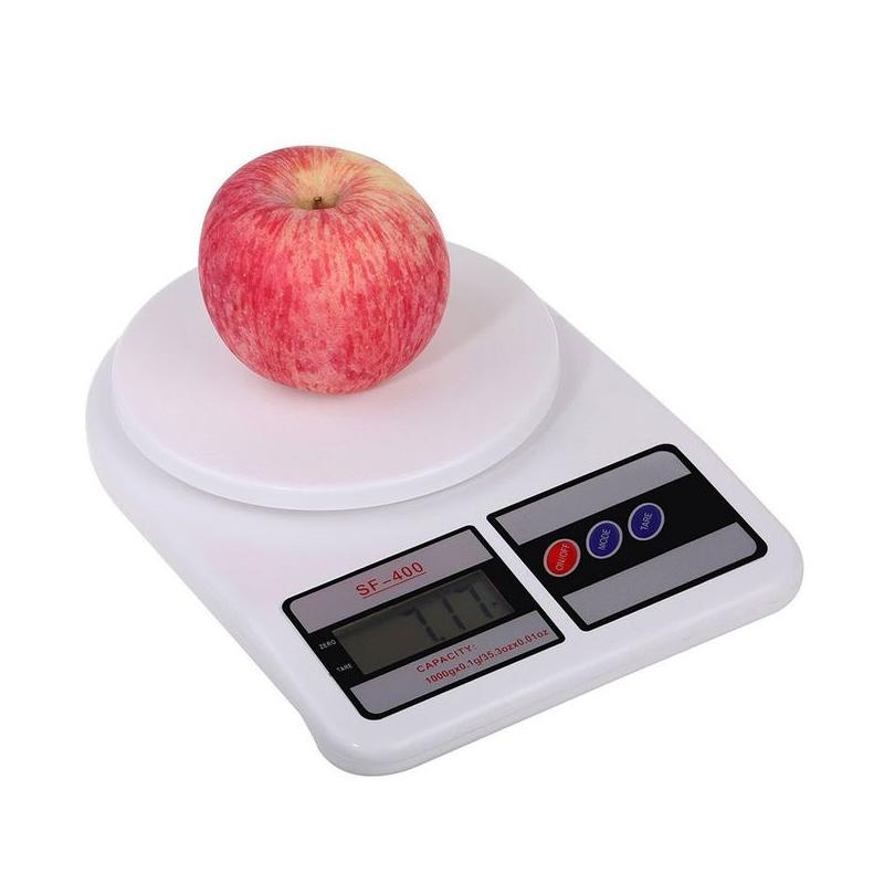 Balance de cuisine électronique SF-400 10Kg en Blanc