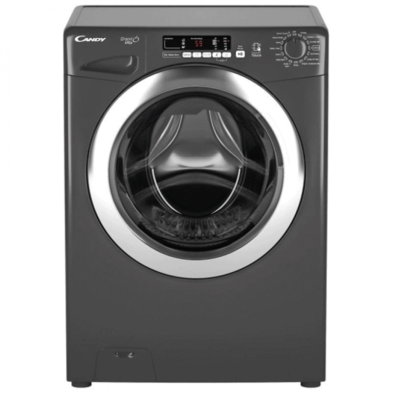 Candy Grand'O Vita GVS149DC3R-80, Machine à laver automatique de 9 Kg, Silver