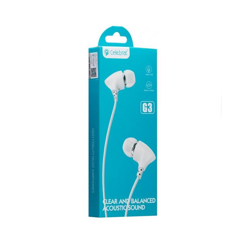 Celebrat G3, Écouteur avec Micro en Blanc