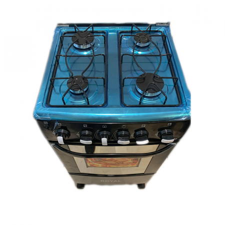 Royal Star RS-CS, Cuisinière à Gaz 4 feux de 53 cm en noir