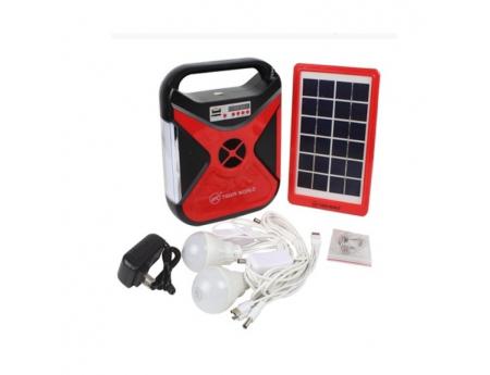 Euronet 102, Kit solaire Torche, Radio, chargeur avec des ampoules