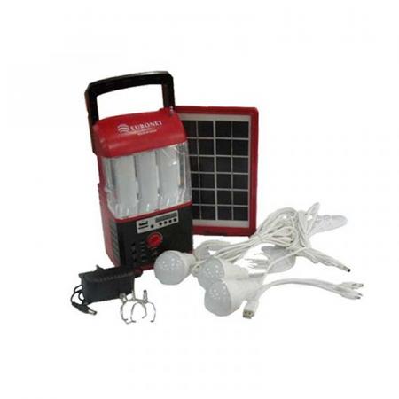 Euronet 103, Kit solaire Torche, Radio, chargeur avec des ampoules