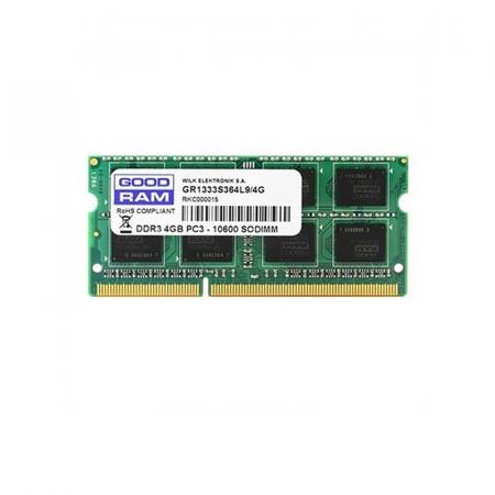 GoodRam GR1333S364L9-4G, Barrette Mémoire pour Pc 4 Go DDR3 1333 Mhz