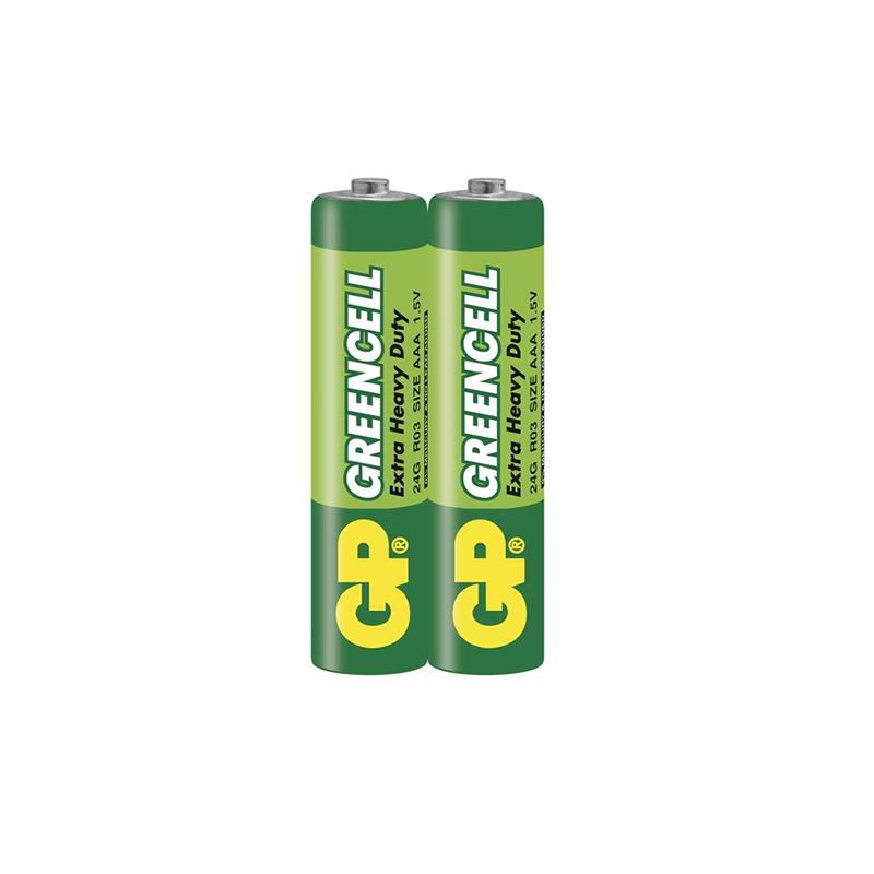 GP Greencell, Lot 2 Piles 1.5 v Extra Heavy Duty Zinc AAA