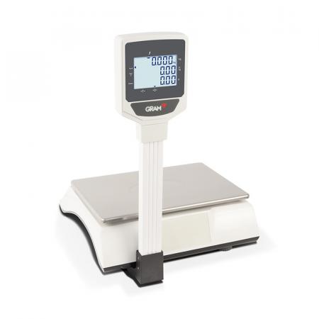 Balance électronique GRAM XFOC 15/30Kg Plateau Standard avec Colonne