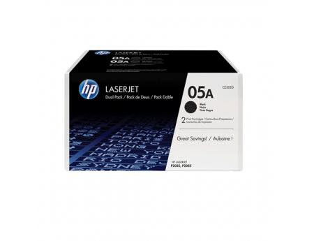 Toner Hp 05A LaserJet noir, pack de 2