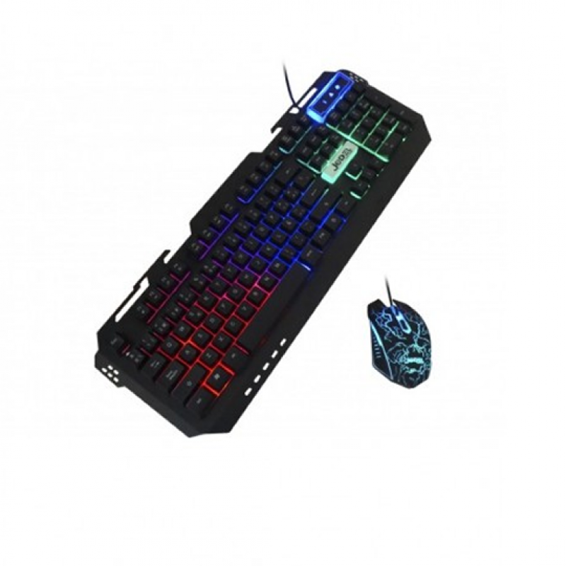 Jedel GK101, Pack Combo Clavier + Souris 4D USB Gaming
