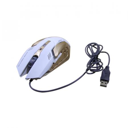 Jedel GM910, Souris Gamer USB avec 6 boutons en Blanc