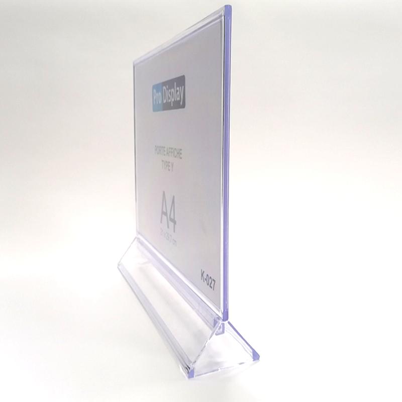 Pro Display K-027, Porte Affiche Type Y Double Face A4 Transparent