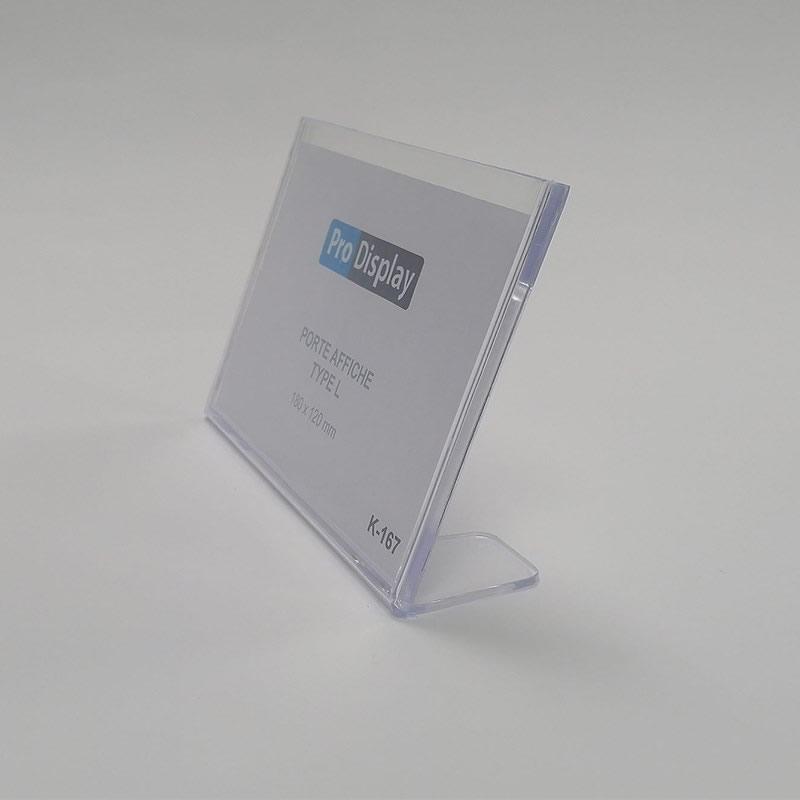 Pro Display K-167, Porte Affiche Type L 180 x 120 mm Transparent