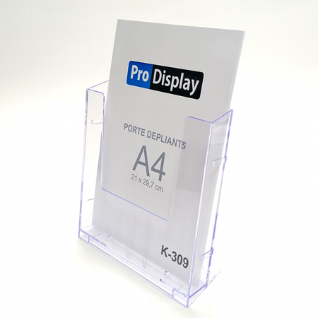 Pro Display K-309, Porte Dépliant A4 Transparent