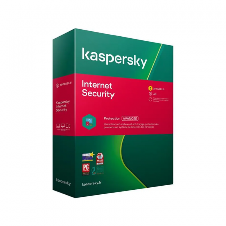 Kaspersky Internet Security 2020, 3 postes, 1 an
