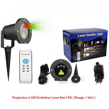 Projecteur à LED Extérieur Laser 8en1 RG ( Rouge + Vert )