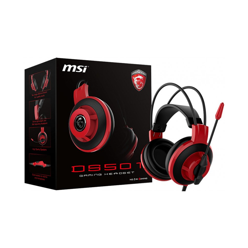 MSI DS501, Micro Casque Gaming filaire ultra léger