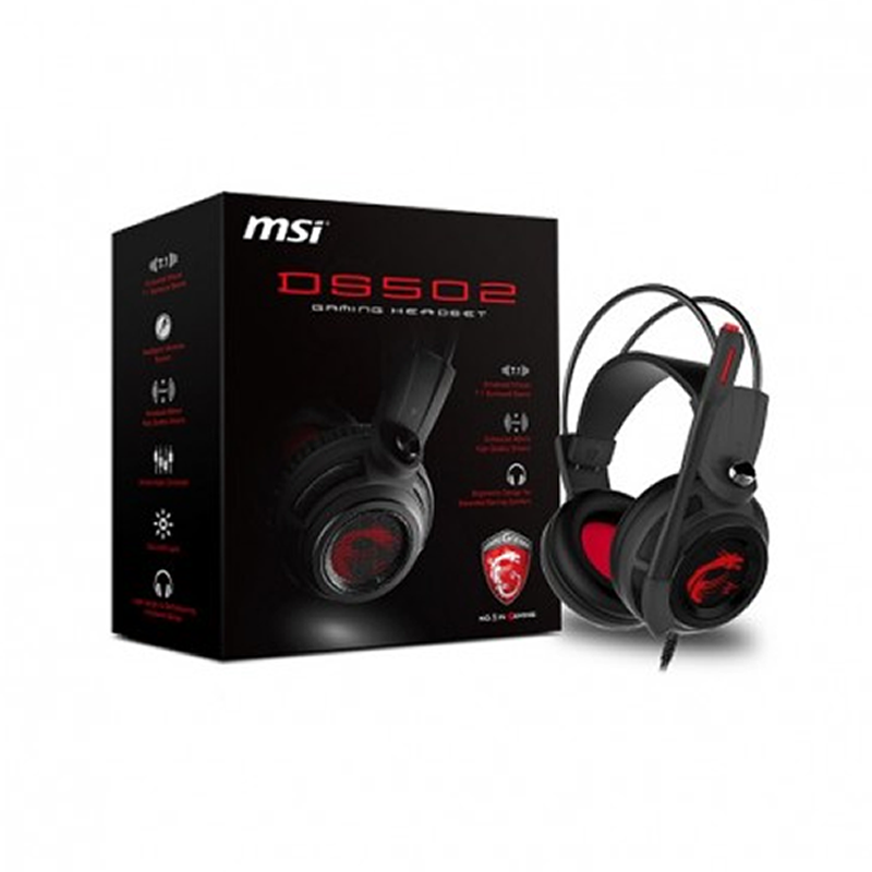 MSI DS502, Micro Casque Gaming Filaire USB
