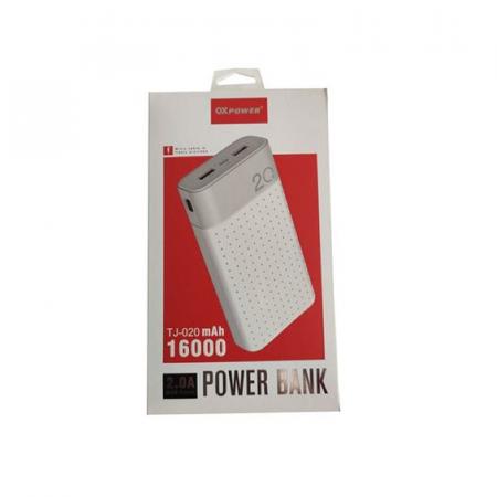 OX Power TJ-020, PowerBank 16000 mAh, batterie externe