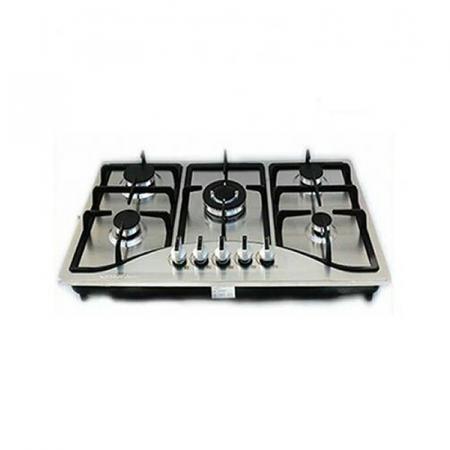 StarOne ST-802, Table de cuisson à Gaz encastrable à 5 Feux 76 cm en Inox