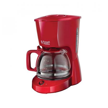 Russell Hobbs Textures Plus, machine à café électrique filtre 10 tasses Rouge