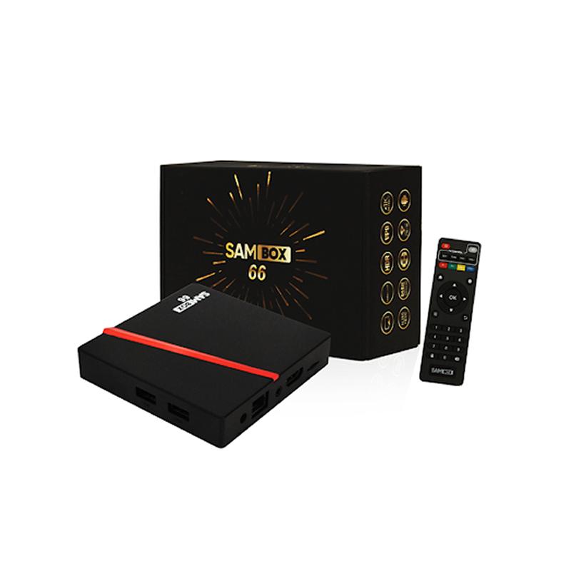 Sambox 66, Box TV Android 4K, Ram 2Go, Rom 16Go avec Abonnement IPTV d'usine