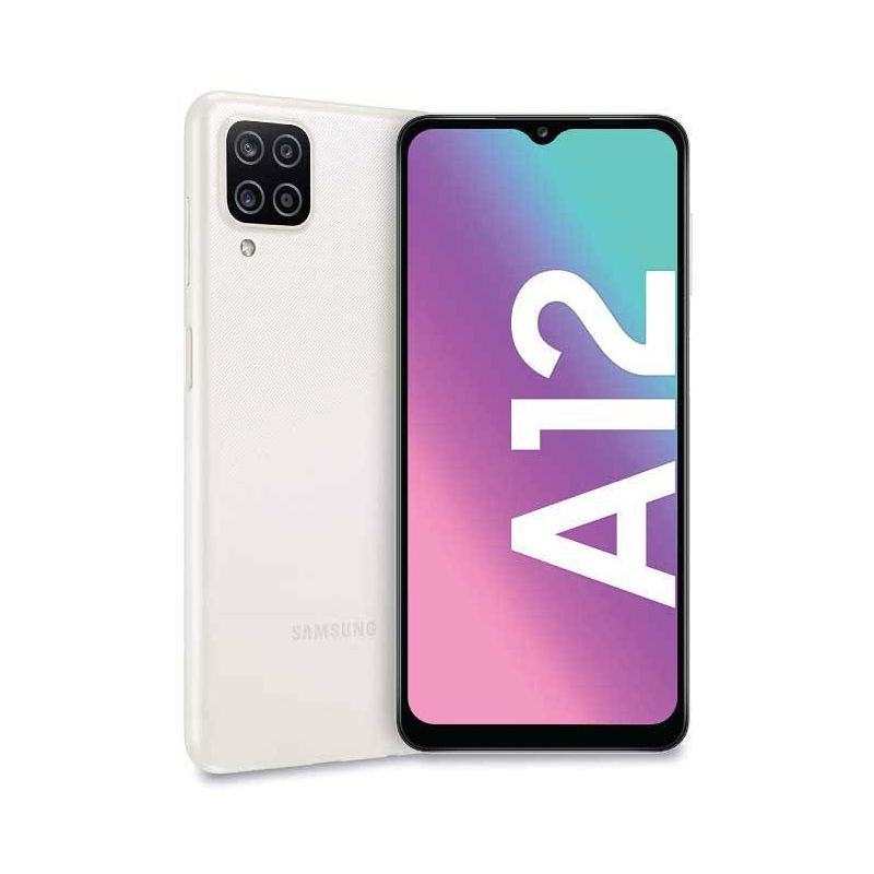 Samsung Galaxy A12, Smartphone Android milieu de gamme 128 Go Blanc