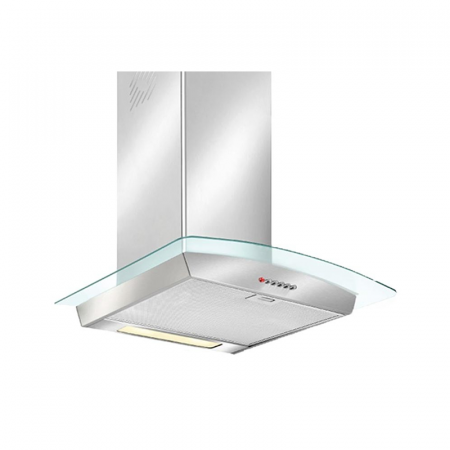 SEG LD22ECO, Hotte Cheminée à 3 Vitesses 60 cm Inox & Curved Glass