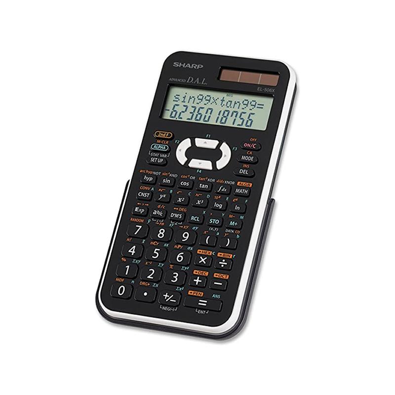 Sharp EL-506X-WH, Calculatrice scientifique Ecran 2 lignes, 469 fonctions en Blanc