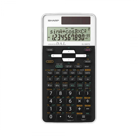 Sharp EL 506TS WH, Calculatrice scientifique 470 fonctions intégrées