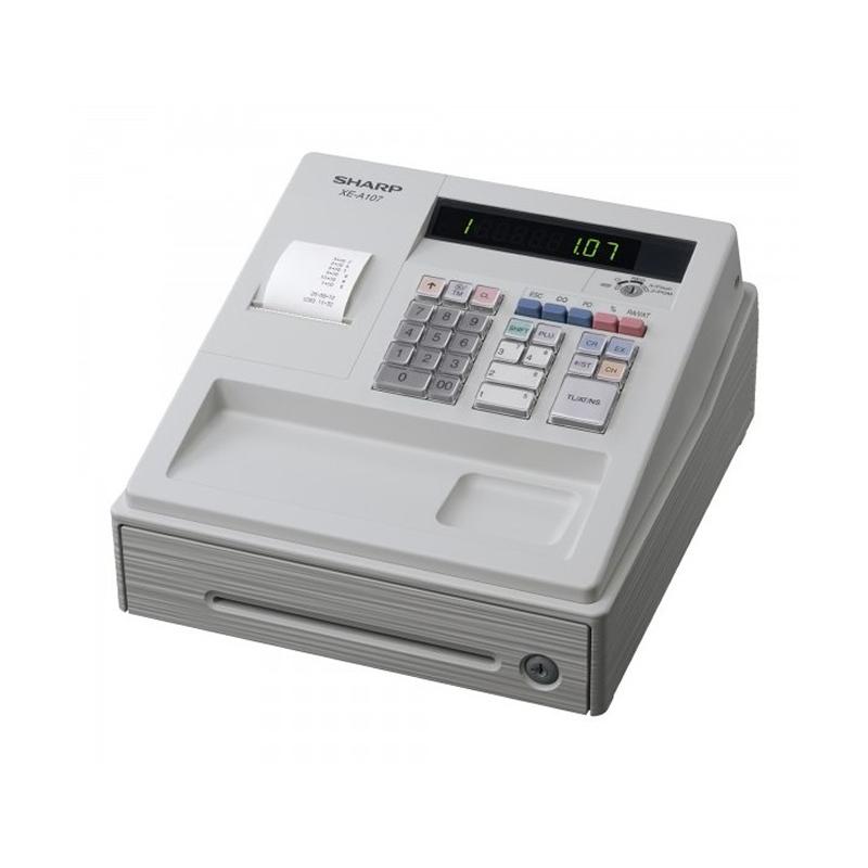Sharp XE-A107W, Caisse Enregistreuse écran LED 8 Départements et 80 articles