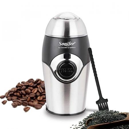Sonifer SF-3507, Moulin à café 200 Watts de capacité 50gr Inox