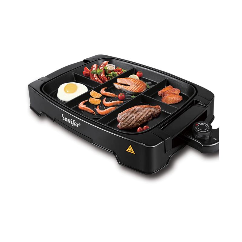 Sonifer SF-6074, Barbecue électrique multi-portions 1500 Watts Antiadhésif
