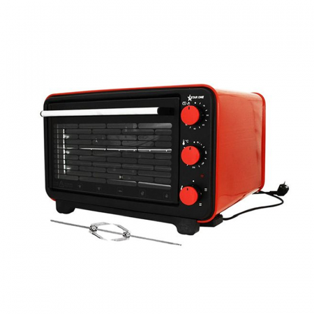 Star One KF-3100, Four électrique 36 Litres Tourne Broche en Rouge