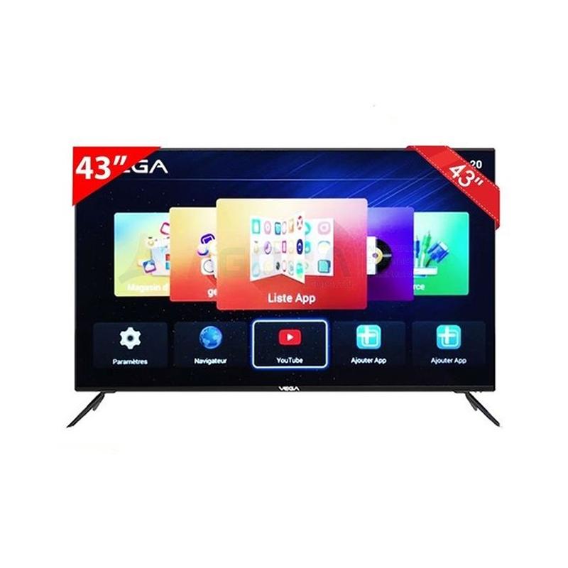 Vega VEGA-TV-43, Téléviseur LED 43 Pouces Full HD Smart + Récepteur intégré