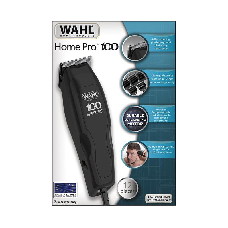 Wahl Home Pro 100, Tondeuse Cheveux avec 12 piéces noir