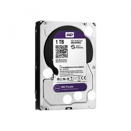 Western Digital WD10PURZ, Disque dur de surveillance 1To Purple SATA III 64Mo