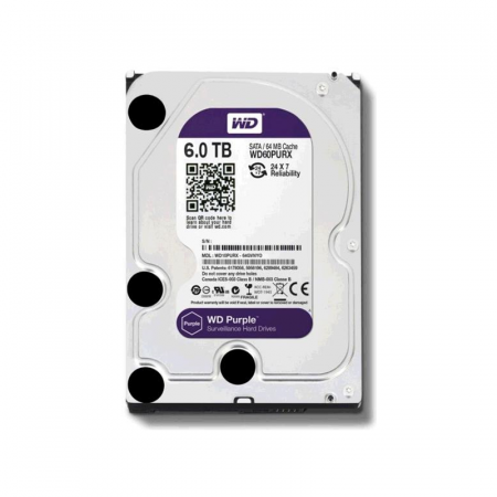 Western Digital WD60PURZ, Disque dur de surveillance 6To Purple SATA III 64Mo
