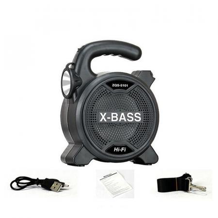 Haut Parleur Sans fil X-BASS Bluetooth avec Torche (ZQS-5101)